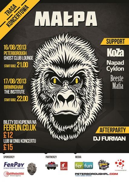 małpa w peterborough koncert