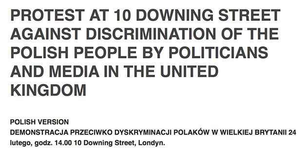 petycja przeciwko dyskrynimacji polakow w uk