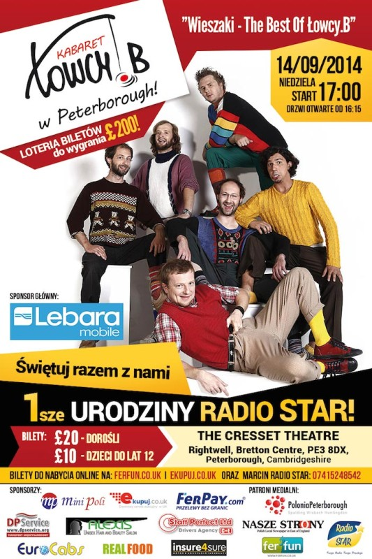 kabaret łowcy.b w peterborough plakat