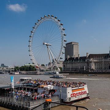 Londyn Eye - widok z brzegu rzeki Theme