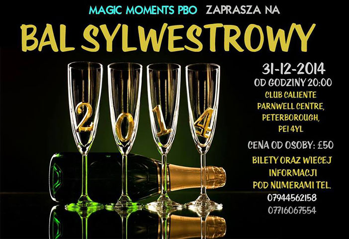 polska impreza sylwester 2014 w Peterborough