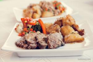 duży obiad w polskiej budce w centrum Peterborough