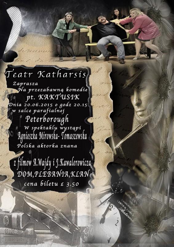 oficialny plakat przedstawienia Kaktusik