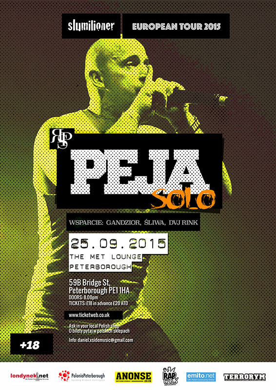 Rychu Peja w Peterborough oficialny plakat