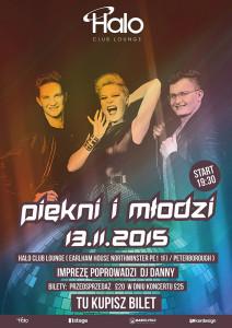 oficialny plakat koncertu Piekni i Mlodzi w Peterborough UK