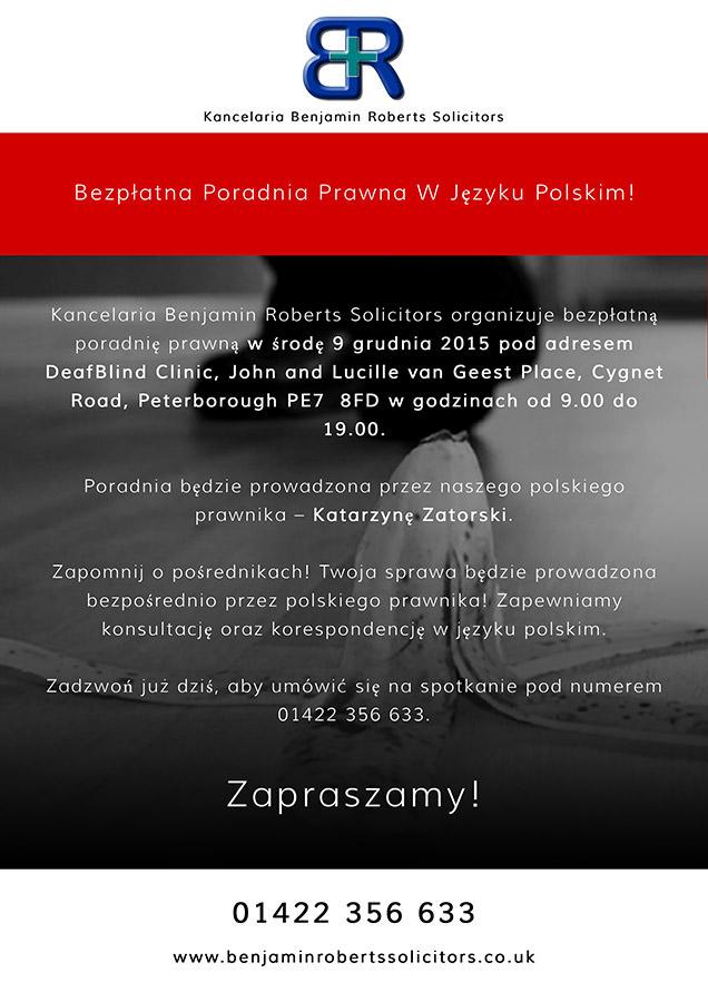spotkanie z polskim prawnikiem plakat