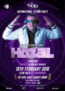 officialny plakat koncert dj hazel w peterborough 2016