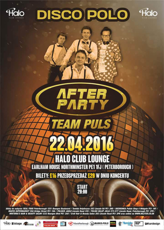 plakat koncertu after party w peterborough