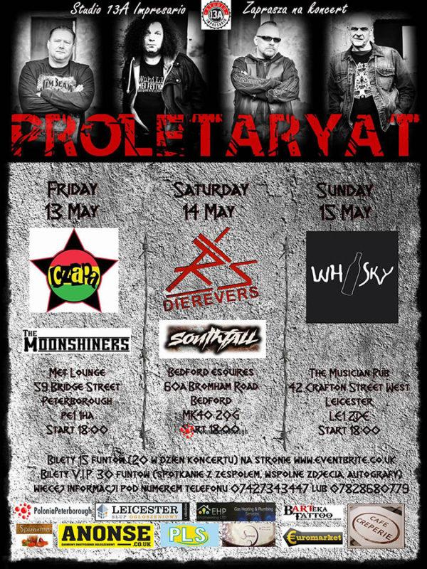 plakat koncertu Proletaryat w Peterborough