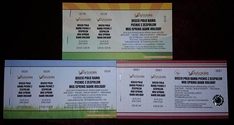 bilety na koncert MIG w Peterborough