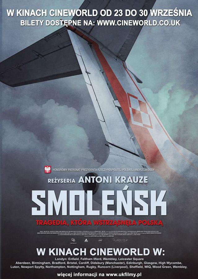 plakat filmu Smolensk w kinach na terenie Wielkiej Brytanii