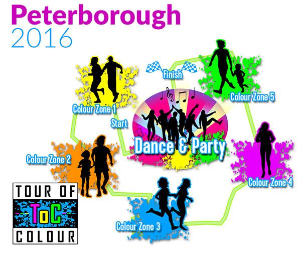 Tour of Colour mapa Peterborough