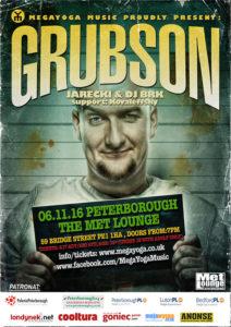 plakat koncertu grubson w peterborough