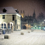 first snow in Peterborough
