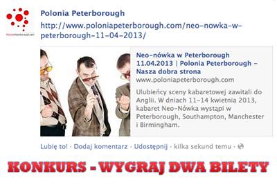 gdzie kupic bilety na neo-nowke w Peterborough