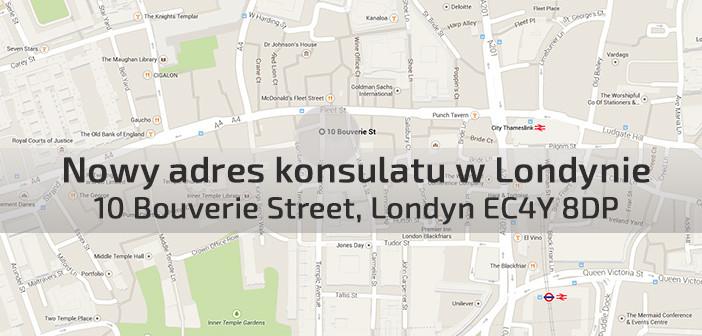 Nowy adres polskiego konsulatu w Londynie