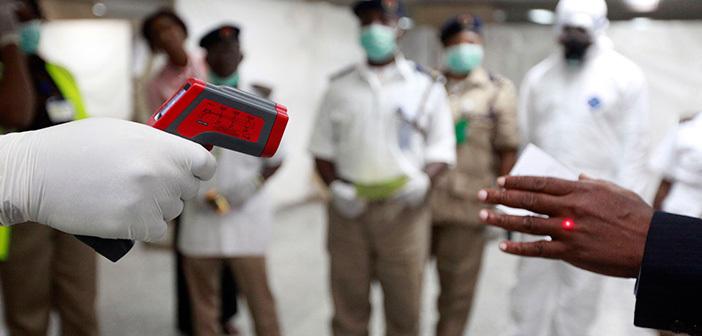 Kontrole na lotniskach - Wirus Ebola.