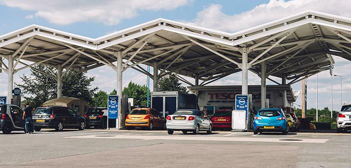 Stacja paliw w Peterborough