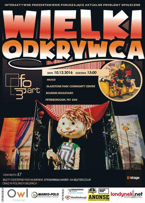 polski teatr dla dzieci peterborough plakat oficialny