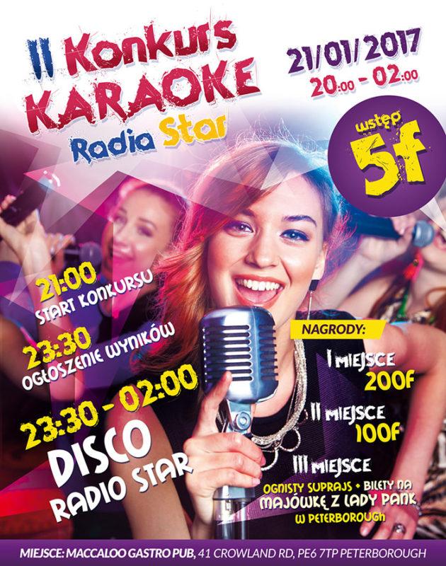 oficialny plakat karaoke Maccaloo