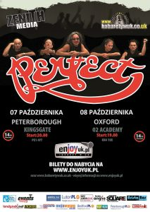 plakat konsert Perfect w Peterborough